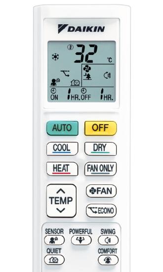 Daikin-Lite-Series-FTXF25T-Controller