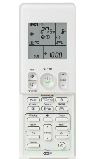 Daikin_Cora_5.0kw_Remote_Controller_FTXV50U_System