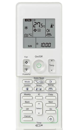 Daikin_Cora_8.5kw_Remote_Controller_FTXV85L_System_FTXV85U