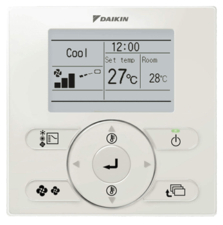 Daikin_Ducted_Air_Conditioner_Wired_Wall_Controller_Premium_10kw_AC_System