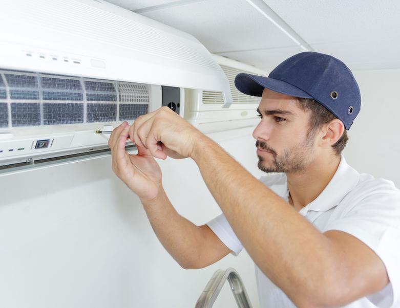 Male air conditioner technician