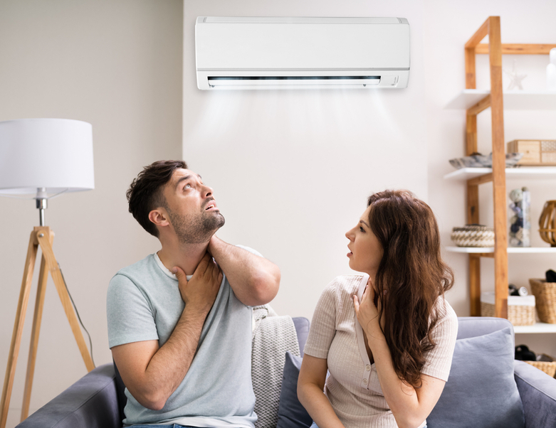 Air conditioning and ill couple